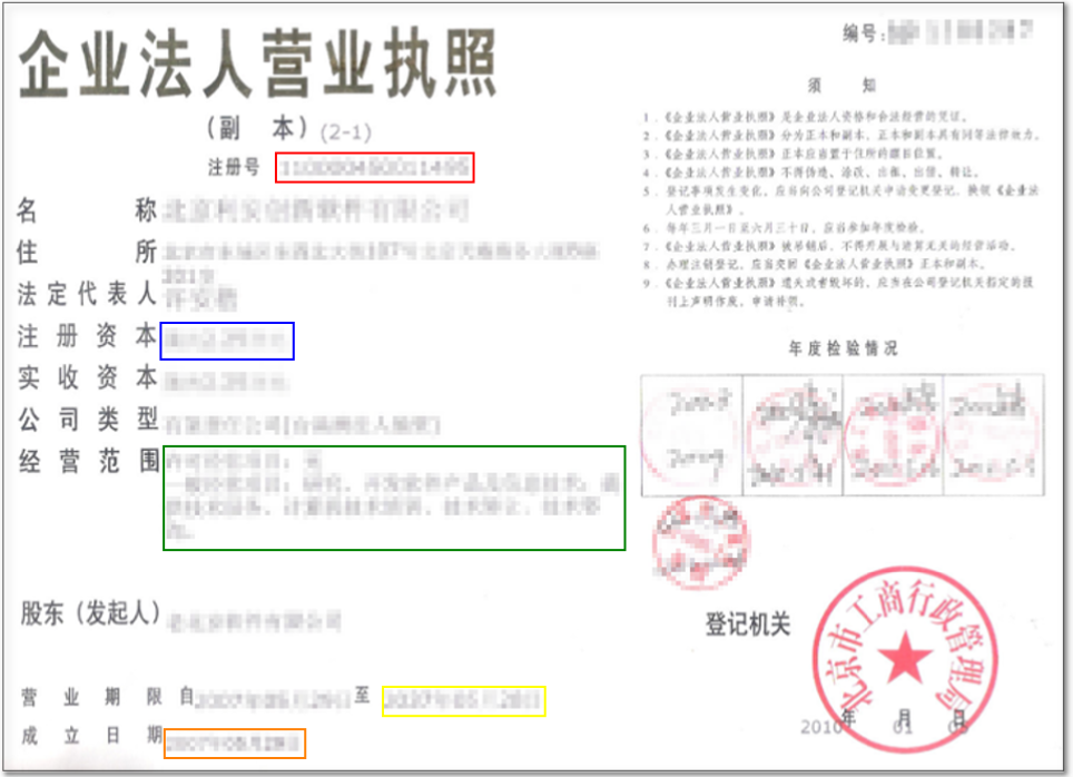 Chinese Business License Register WeChat Official Account