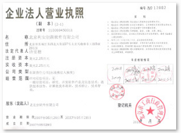 Chinese Business License 营业执照