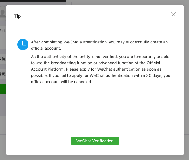 how to create new wechat account